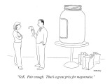 """O.K.  Fair enough.  That's a great price for mayonnaise."" - New Yorker Cartoon Premium Giclee Print by Alex Gregory"