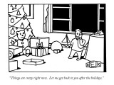 """""""Things are crazy right now.  Let me get back to you after the holidays."""" - New Yorker Cartoon Premium Giclee Print by Bruce Eric Kaplan"""