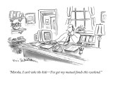 """""""Marsha, I can't take the kids—I've got my mutual funds this weekend."""" - New Yorker Cartoon Premium Giclee Print by Eric Teitelbaum"""