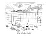 """Wow!  Labor Day already?"" - New Yorker Cartoon Premium Giclee Print by Mick Stevens"