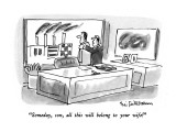 """Someday, son, all this will belong to your wife!"" - New Yorker Cartoon Premium Giclee Print by Eric Teitelbaum"