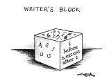 Writer&#39;s Block - New Yorker Cartoon Premium Giclee Print by Henry Martin