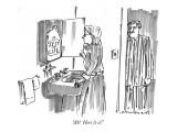 """Ah!  Here it is!"" - New Yorker Cartoon Premium Giclee Print by Michael Crawford"