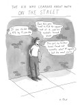 The Kid Who Learned About Math on the Street - Cartoon Premium Giclee Print by Roz Chast