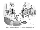 """You're a partner now, Cosgrove.  Partners don't do self-deprecation."" - New Yorker Cartoon Premium Giclee Print by Leo Cullum"