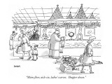 """Main floor, aisle six, ladies' scarves.  Shopper down."" - New Yorker Cartoon Premium Giclee Print by Jack Ziegler"