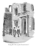 """""""So long, Bill. This is my club. You can't come in."""" - New Yorker Cartoon Premium Giclee Print by Robert Weber"""