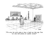 """""""I'm sorry, but you're going to have to hand over that cape.  Your test ca…"""" - New Yorker Cartoon Premium Giclee Print by Jack Ziegler"""