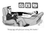 """Perhaps this will refresh your memory, Mr. Conklin."" - New Yorker Cartoon Premium Giclee Print by J.C. Duffy"