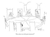 """How about some little pads and pencils?"" - New Yorker Cartoon Premium Giclee Print by Arnie Levin"