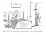 """That's O.K., Dad.  I think I'll go with the ambient waterfall sounds toni…"" - New Yorker Cartoon Premium Giclee Print by Mick Stevens"