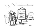 People reading directory at a museum. - New Yorker Cartoon Premium Giclee Print by Frank Modell