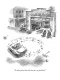"""At what point does this become our problem?"" - New Yorker Cartoon Premium Giclee Print by Frank Cotham"