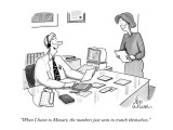 """""""When I listen to Mozart, the numbers just seem to crunch themselves."""" - New Yorker Cartoon Premium Giclee Print by Leo Cullum"""