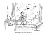 &quot;Those aren&#39;t buzzards, are they?&quot; - New Yorker Cartoon Premium Giclee Print by Mick Stevens