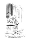"""""""And forgive even those who prevented us from selling our air rights."""" - New Yorker Cartoon Premium Giclee Print by Ed Fisher"""