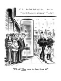 """Uh-oh! They seem to have loved it!"" - New Yorker Cartoon Premium Giclee Print by Ed Fisher"