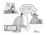 'Expert Witness' - New Yorker Cartoon Premium Giclee Print by Leo Cullum