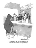"""I'm surprised at you, Ted.  You know we're not allowed to server alcoholi…"" - New Yorker Cartoon Premium Giclee Print by J.B. Handelsman"