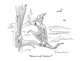 """Memo to self: 'Feathers?'"" - New Yorker Cartoon Premium Giclee Print by Danny Shanahan"