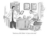 """Good news, Mr. Pickett—it's just a slow leak."" - New Yorker Cartoon Premium Giclee Print by Danny Shanahan"
