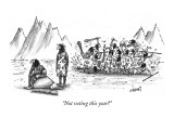 """Not voting this year?"" - New Yorker Cartoon Premium Giclee Print by Tom Cheney"