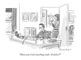 """Have you tried searching under 'fruitless'?"" - New Yorker Cartoon Premium Giclee Print by Danny Shanahan"