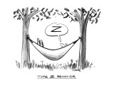 """Type Z Behavior"" - New Yorker Cartoon Premium Giclee Print by Donald Reilly"