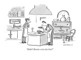 """Hello? Risotto-crisis hot line?"" - New Yorker Cartoon Premium Giclee Print by Liza Donnelly"
