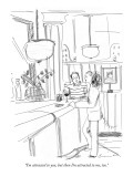 """I'm attracted to you, but then I'm attracted to me, too."" - New Yorker Cartoon Premium Giclee Print by Richard Cline"