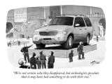 """We're not certain why they disappeared, but archeologists speculate that …"" - New Yorker Cartoon Premium Giclee Print by Harry Bliss"