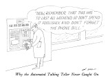 Why the Automated Talking Teller Never Caught On - New Yorker Cartoon Premium Giclee Print by Ed Arno