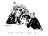 """Lately, I've begun to understand—and forgive—my parents."" - New Yorker Cartoon Premium Giclee Print by William Hamilton"
