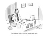 """This is Daddy, honey. That was Daddy's office voice."" - New Yorker Cartoon Premium Giclee Print by Leo Cullum"