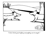 """I don't think good huffing and puffing can be taught."" - New Yorker Cartoon Premium Giclee Print by Bruce Eric Kaplan"