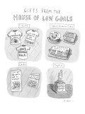 """Gifts from the House of Low Goals."" - New Yorker Cartoon Premium Giclee Print by Roz Chast"