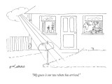 """My guess is our tax rebate has arrived."" - New Yorker Cartoon Premium Giclee Print by Ed Arno"