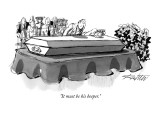 """It must be his beeper."" - New Yorker Cartoon Premium Giclee Print by Mischa Richter"