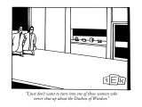 """I just don't want to turn into one of those women who never shut up about…"" - New Yorker Cartoon Premium Giclee Print by Bruce Eric Kaplan"
