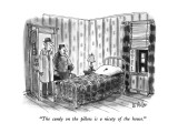 """The candy on the pillow is a nicety of the house."" - New Yorker Cartoon Premium Giclee Print by Warren Miller"