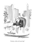"""Frankly, a zillion still sounds high."" - New Yorker Cartoon Premium Giclee Print by Bernard Schoenbaum"