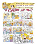 The Economy Doctor - New Yorker Cartoon Premium Giclee Print by Roz Chast