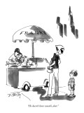 """He doesn't have wasabi, dear."" - New Yorker Cartoon Premium Giclee Print by Donald Reilly"