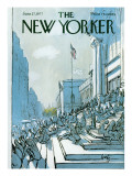 The New Yorker Cover - June 27, 1977 Premium Giclee Print by Arthur Getz