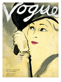 "Vogue Cover - February 1932 Premium Giclee Print by Carl ""Eric"" Erickson"