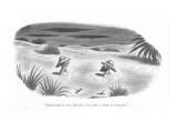 """Quicksand or not, Barclay, I've half a mind to struggle."" - New Yorker Cartoon Premium Giclee Print by Richard Taylor"