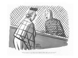 """You mean to say there was a file in that cake you sent me!"" - New Yorker Cartoon Premium Giclee Print by Peter Arno"