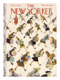 The New Yorker Cover - December 8, 1945 Premium Giclee Print by Constantin Alajalov