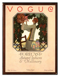 Vogue Cover - September 1922 Premium Giclee Print by Leslie Saalburg