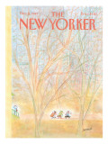 The New Yorker Cover - December 5, 1983 Premium Giclee Print by Jean-Jacques Sempé